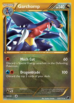 Pokémon Mega Garchomp EX 3 3  Ground kick  My Pokemon Card