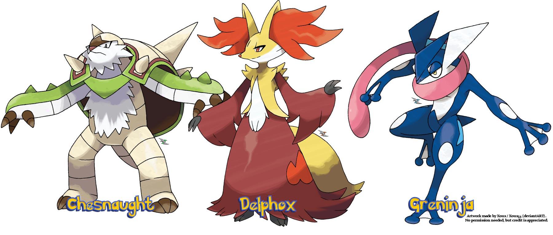 Pokemon x and y starter final evolutions revealed - X evolution pokemon ...