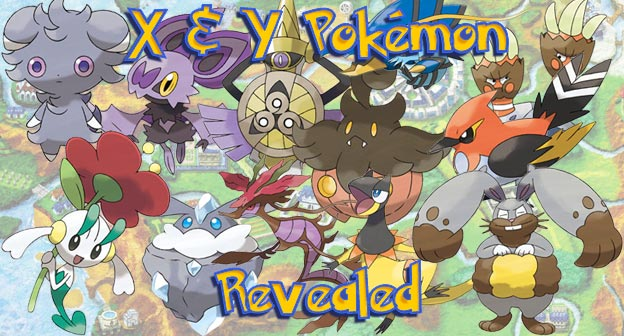 X and Y Pokemon Revealed