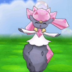 Diancie in Pokemon Amie