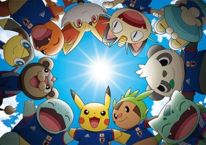 Pokemon Mascots for Japan in the FIFA World Cup 2014