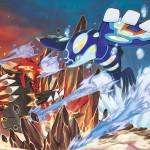 Pokémon Omega Ruby Alpha Sapphire Concept Art Battle Primal Groudon Kyogre