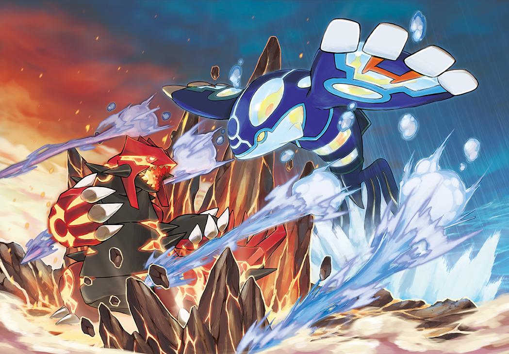 Omega Ruby and Alpha Saphire Pok%C3%A9mon-Omega-Ruby-Alpha-Sapphire-Concept-Art-Battle-Primal-Groudon-Kyogre-72