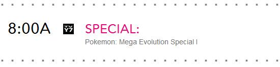 Pokemon Mega Evolution Special I Cartoon Network Schedule