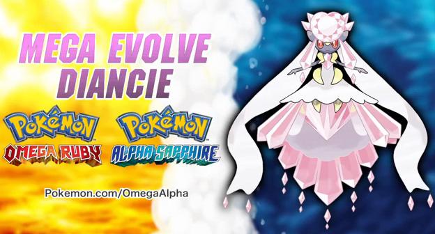 Mega Diancie in Pokemon Omega Ruby Alpha Sapphire