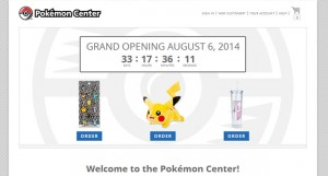 PokemonCenter.com Opens August 6