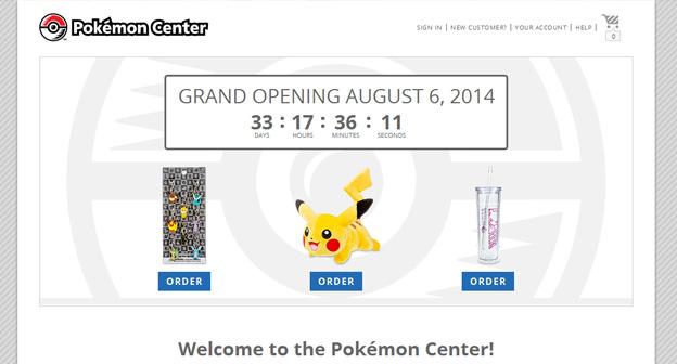 PokemonCenter.com Opens August 6