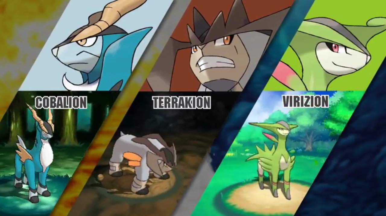Cobalion Terrakion Virizion The Pokemasters