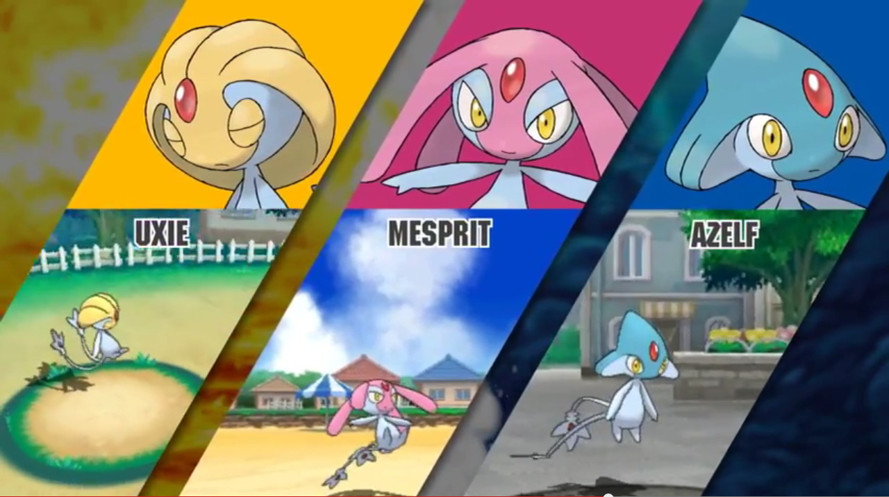 Uxie Mesprit Azelf The Pokemasters