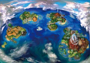 pokemon sun pokemon moon alola region map