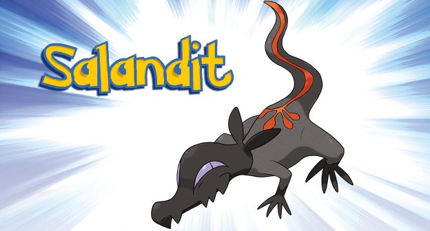 Salandit from Pokemon Sun and Pokemon Moon